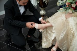 robe de mariage or